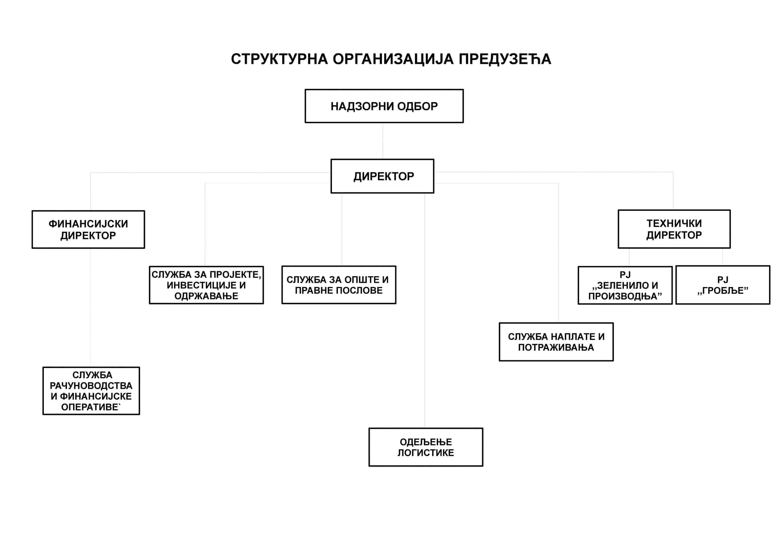 Организациона структура