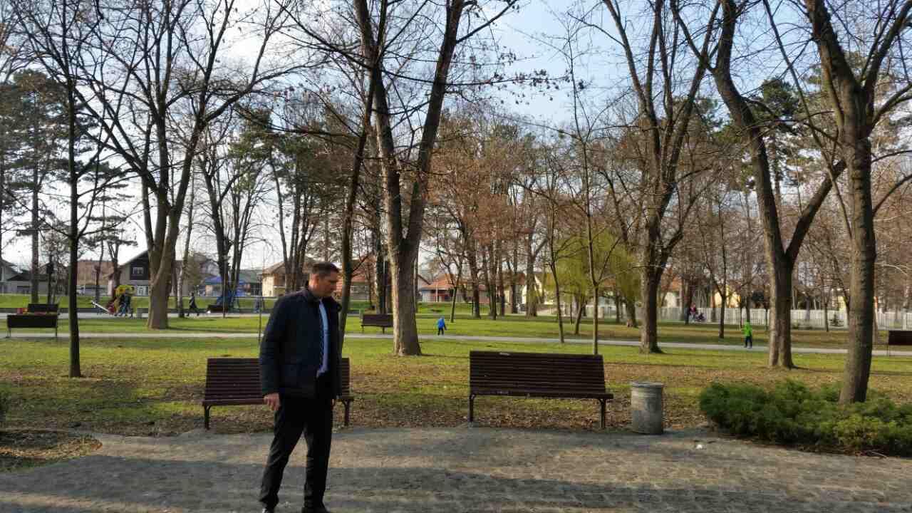 Очишћене стазе у Градском парку