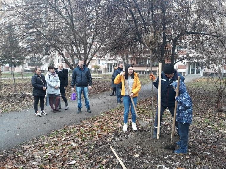 """,,Наша шума , наша брига """" – садња у улици Кнеза Васе Поповића"""