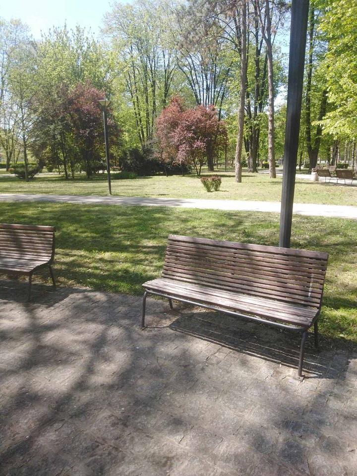 Радови на уређењу градског парка у Чачку
